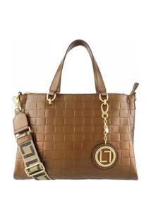 Bolsa Feminina Em Couro 6561 Bronze