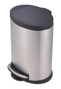 Lixeira Mor Com Pedal Onix 8230 Em Aço Inox E Polipropileno - 5 L