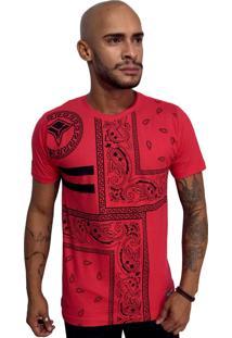 Camiseta Vextor Arabescos Vermelho