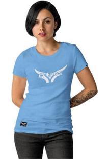 Camiseta Cellos Street Premium Feminina - Feminino-Azul Claro