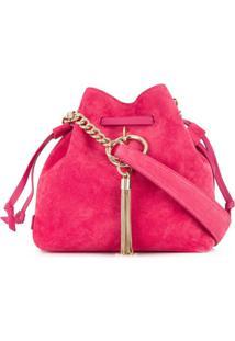 Jimmy Choo Bolsa Bucket Callie Pequena Com Cordão De Ajuste - Rosa
