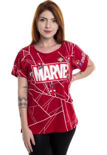 Camiseta Baby Look Marvel Game Spider Man - Mary Jane Vermelho