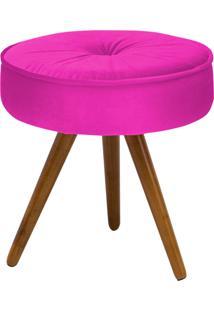 Puff Decorativo Julia Redondo Suede Pink - D'Rossi