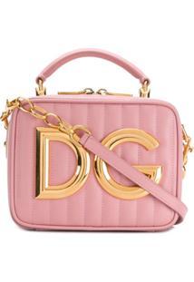 Dolce & Gabbana Bolsa Com Logo - Rosa