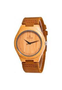 Relógio Feminino Red Deer Madeira Sj1473 - Marrom Claro