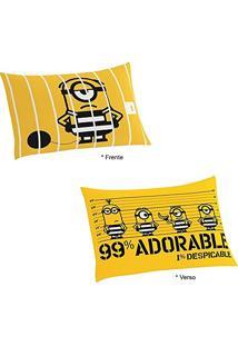 Fronha Minions Amarela Porta Travesseiro Lepper
