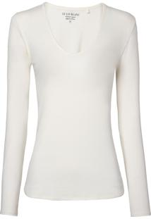 Blusa Le Lis Blanc Lana Ii Malha Off White Feminina (Dust, G)