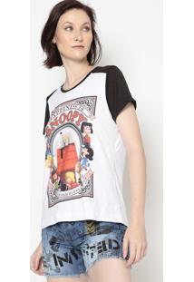 Camiseta Snoopyâ®- Branca & Preta- Angelangel