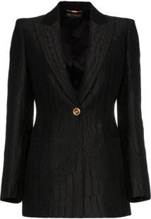 Versace Blazer Jacquard - Preto