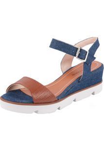 Sandália Bottero Jeans - Feminino-Jeans