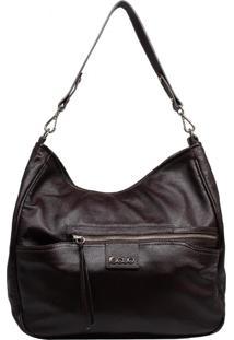 Bolsa De Couro Recuo Fashion Bag Sacola Marsala Escuro