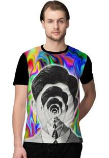 Camiseta Stompy Psicodelica27 Masculina - Masculino-Preto