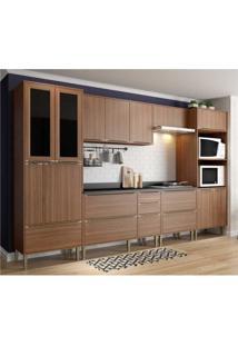 Cozinha Completa Multimã³Veis Com 7 Peã§As Calã¡Bria 5451 Nogueira - Incolor/Marrom - Dafiti