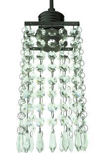 Lustre Pendente Diamante 1050/1 Transparente 40W Bivolt