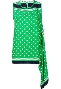 P.A.R.O.S.H. Blusa Assimétrico Com Poás - Verde