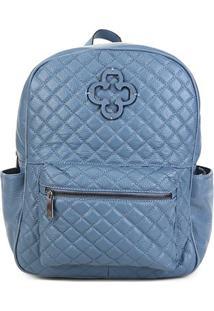 Bolsa Capodarte Jeans Delave Feminina - Feminino-Azul Escuro