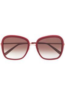 Stella Mccartney Eyewear Óculos De Sol Oversized - Vermelho