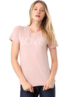 Camiseta Calvin Klein New Year Love Rosa