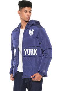 Jaqueta Puffer New Era New York Yankees Azul-Marinho