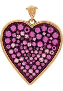 Versace Par De Brincos De Coração - Rosa
