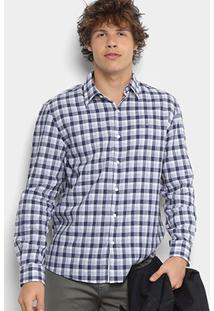 Camisa Xadrez Ellus Masculina - Masculino-Azul Escuro