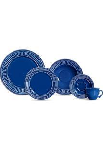 Aparelho De Jantar 20 Peças Poppy - Scalla - Azul