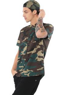 Camisa Dc Shoes Militar Verde/Marrom