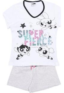 Short Doll The Powerpuff Girls®- Branco & Pretoevanilda
