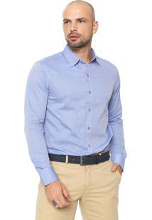 Camisa Zune Reta Estampada Azul