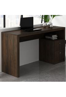 Mesa Para Escritório 2 Gavetas Rústico Me4130 - Tecno Mobili