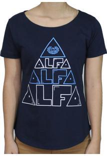 Camiseta Alfa Candy Piramide Azul Marinho