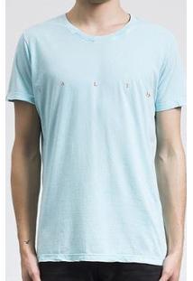 Camiseta Salt 35G Logo Salt Costas Masculina - Masculino-Azul Claro