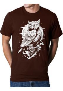 Camiseta Hshop Coruja Marrom