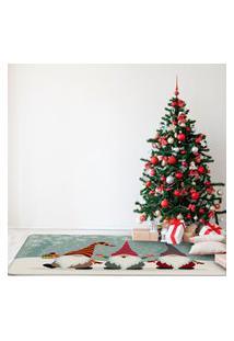 Tapete De Natal Para Sala Gnomos Natalinos Único