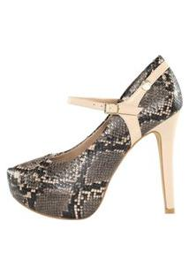 Scarpin Meia Pata Week Shoes Animal Print.