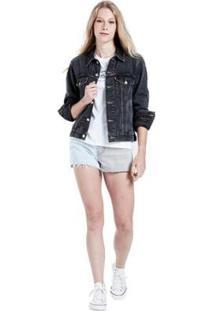 Jaqueta Jeans Levis Trucker Ex-Boyfriend - Feminino-Preto