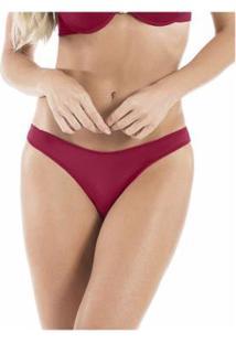 Calcinha Fio Dental Extremo Conforto Com Proteção Permanente - Feminino-Vermelho