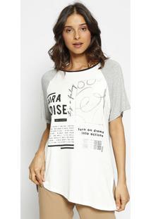 "Camiseta ""Paradise"" - Branca & Cinza - Zincozinco"