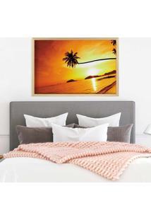 Quadro Love Decor Com Moldura Sunset Madeira Clara Médio