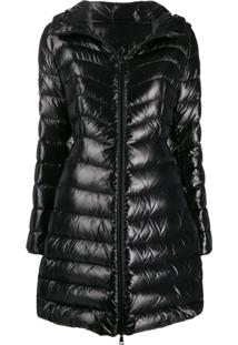 Moncler Hooded Midi Puffer Jacket - Preto