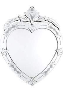 Espelho Veneziano Coração 50X30Cm