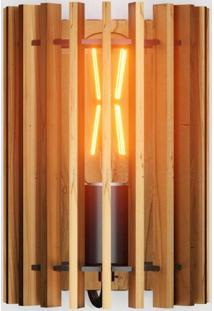 Arandela De Madeira Redondo Rústico Isadora Design Madeira