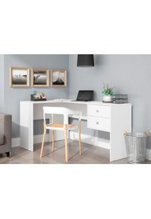 Mesa Para Computador Com 2 Gavetas Bc 68 - Brv Móveis - Branco