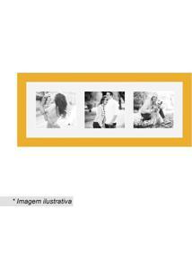 Painel Multifotos Insta- Amarelo & Branco- 15X38Cmkapos