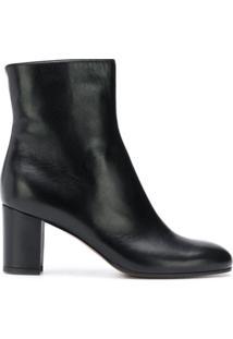 L'Autre Chose Ankle Boot De Couro - Preto