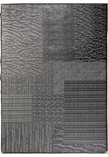 Tapete Sisllê Abstrato Viii Retangular Polipropileno (200X300) Preto