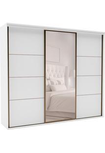 Guarda-Roupa Casal Com Espelho Eleganza Ll 3 Pt 4 Gv Branco