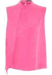 Blusa Feminina Sobreposição - Rosa