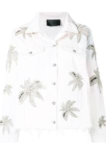 Philipp Plein Jaqueta Floral - Branco