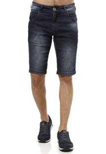 Bermuda Jeans Masculina Rock & Soda Azul - Masculino